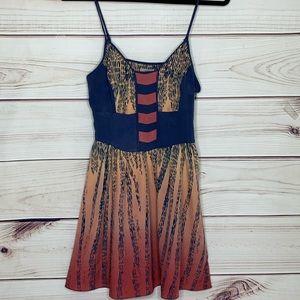 URBAN OUTFITTERS Ecote Ombré Empire Sun Dress